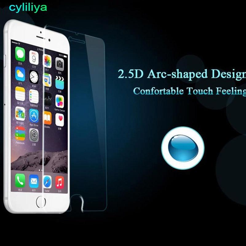100 pec Explosion Proot premium tempered glass screen protector flim for iphone X 8 plus 5