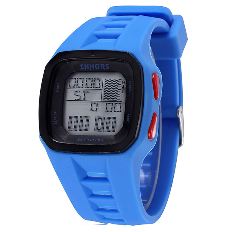 Electronic Watches Shhors Digital Waterproof Silicone Sports Men Fashion Led Top-Brand