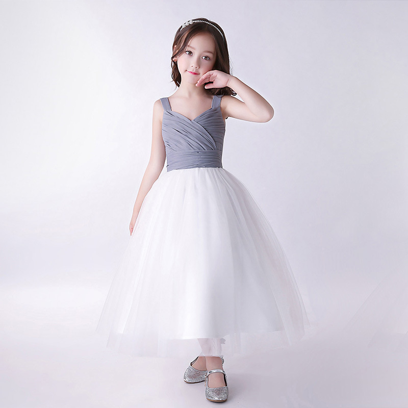 Princess Flower Girl Dress 2018 Tutu Wedding Birthday Party Dresses For Girls Children's Costume Teenager Prom Designs CC771 aile rabbit princess flower girl dress summer 2017 tutu wedding birthday party dresses for girls children s costume teenager