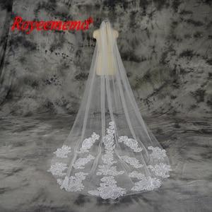 Image 1 - Voile mariage 3 m 한 레이어 레이스 화이트 아이보리 catherdal 웨딩 베일 긴 신부 베일 저렴한 웨딩 액세서리 veu de noiva