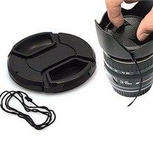 DSLRKIT 77 мм Pinch центр кнопки на передней Кепки для объектива/Фильтры