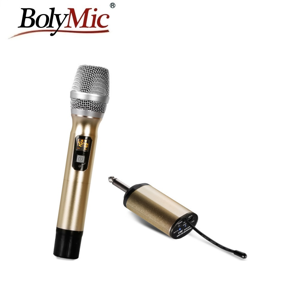 bolymic mini handheld wireless microphone with rechargeable receiver uhf wireless microphone in. Black Bedroom Furniture Sets. Home Design Ideas