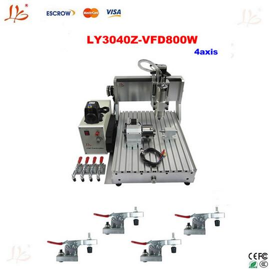 4axis CNC router 3040Z-VFD800W engraving machine,cnc carving machine +cnc frame Assembled & tested well woodworking machine  цены