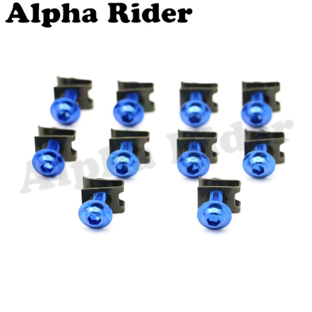 Alpha Rider Universial 10x Windshield Bolts 5MM Windscreen Mounting Screws for kawasaki Ninja ZX9R 1998 ZX900C Ninja ZX9R 1999-2003 ZX900F Blue