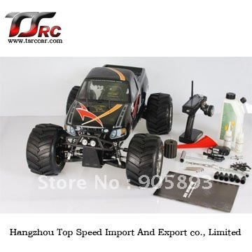 Free shipping!!! RC CAR---26cc 4WD Big Monster RC car with 2.4G transmitter RTR 1 5 gas 26cc 4wd hummer rtr