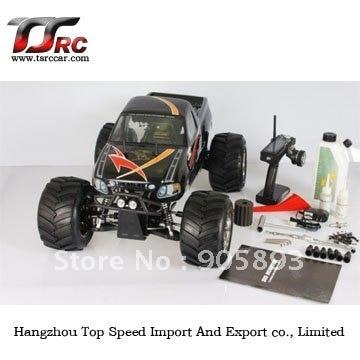 купить Free shipping!!! RC CAR---26cc 4WD Big Monster RC car with 2.4G transmitter RTR онлайн