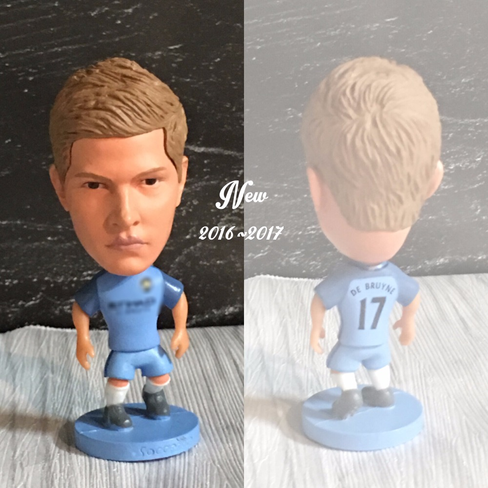 Soccer figurine sports stars De Bruyne 2016-2017 Movable joints resin model toy action figure dolls collectible boyfriend gift