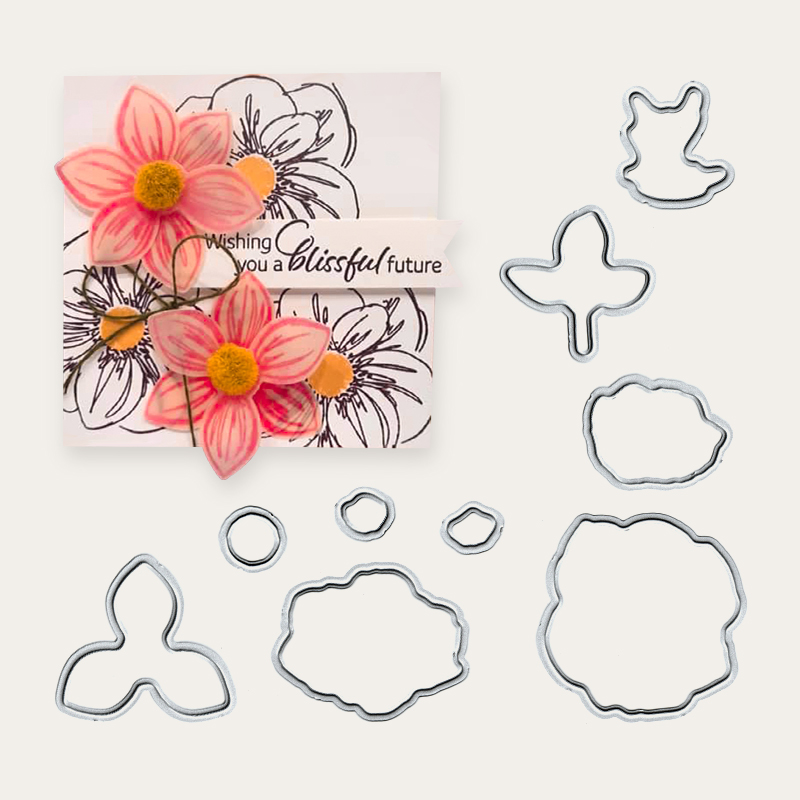 2019 Floral Essence Metal Cutting Dies And Stamp For Scrapbooking Practice Hands-on DIY Album Decor Card Craft Dies