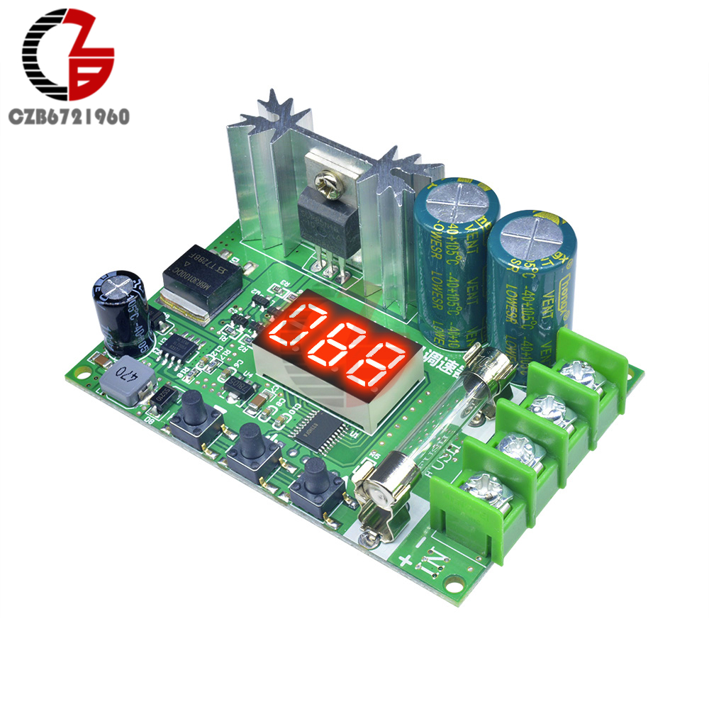 600W 12V 10A Digital PWM DC Motor Speed Controller PC Fan Speed Regulator Governor LED Power Speed Control Switch 12-60V No PLC image