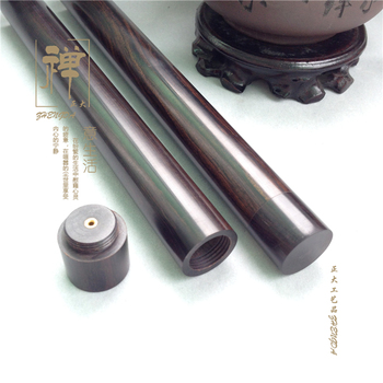 Zhengda oversized black wood screw with incense incense tube filled with 20 grams of aloes wood crafts customized cylinder
