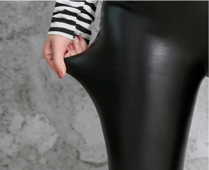 0ebe6ba8fde ... Stretch Leggings Plus Size 5XL Winter Warm Faux Leather Pants Thick  Leggings Women Fleece Lined ouc1688 ...