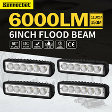 4PCS 18W 12V LED Work Light Bar Flood Spot light Lamp Offroad Car for Ford For Toyota SUV 4WD Led Beams