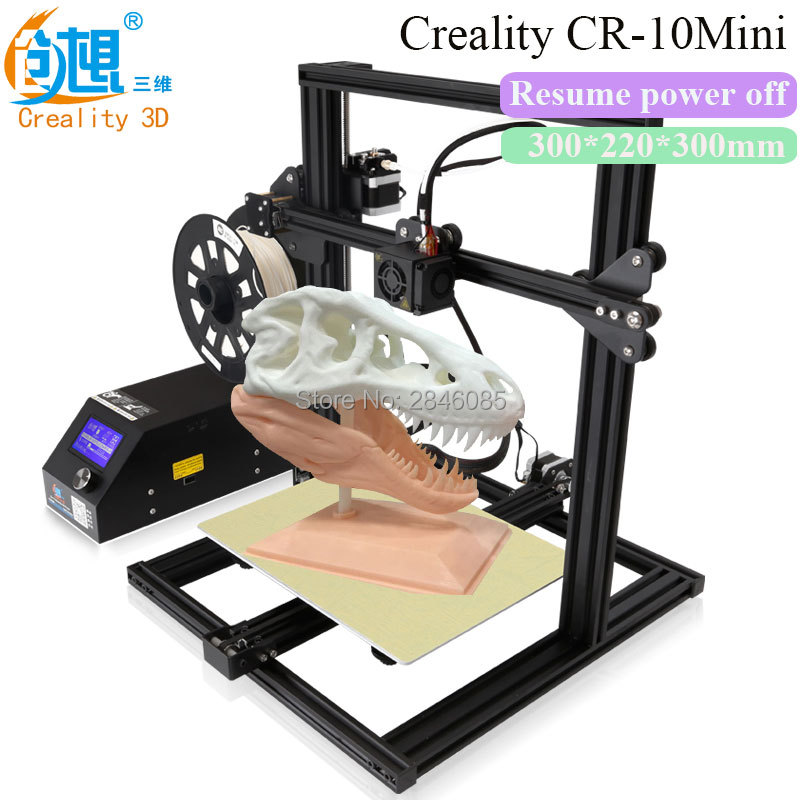 2017 Newest CREALITY 3D CR-10 Mini Full Metal Frame Large 3D Printer Support Resume Printing after power off 3D Printer DIY Kit metal frame linear guide rail for xzy axix high quality precision prusa i3 plus creality 3d cr 10 400 400 3d printer diy kit