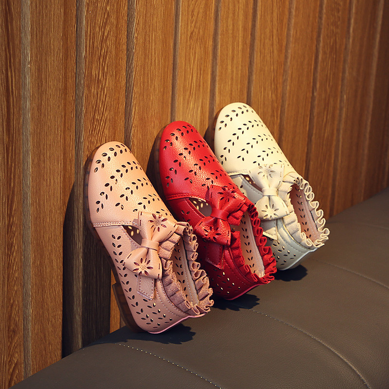 New girl Korean version of the spring and summer hollow shoes soft princess