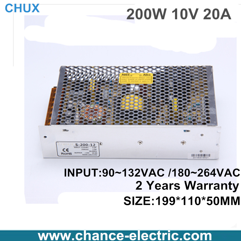 DC LED switching mode Power Supply Single Output adjustable power supply 10v 200W free shipping одежда для женщин