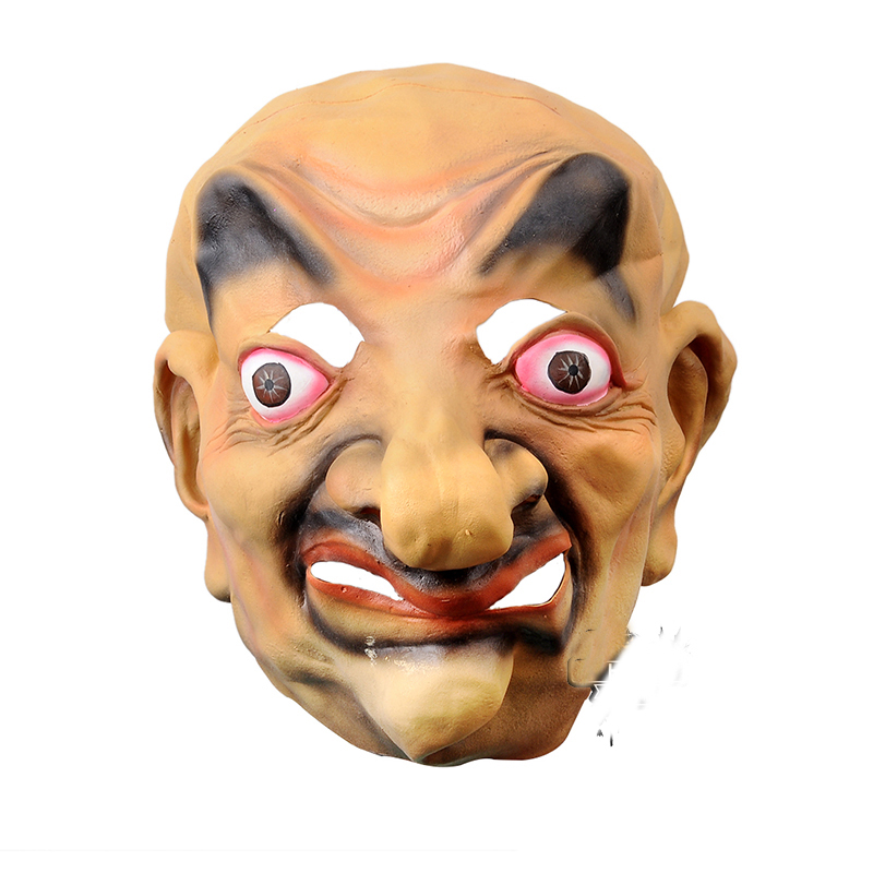 scary latex devils full mask big nose old man terror halloween horror ghost mascara cosplay carnival