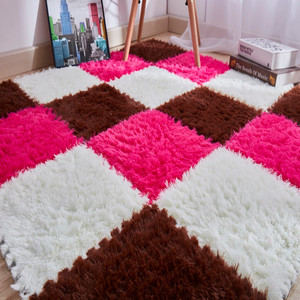 30*30cm decorative rugs and carpets for home living room Kids Carpet Foam Puzzle Mat EVA Long Fluff Baby Eco Floor 9 colors #XTN(China)