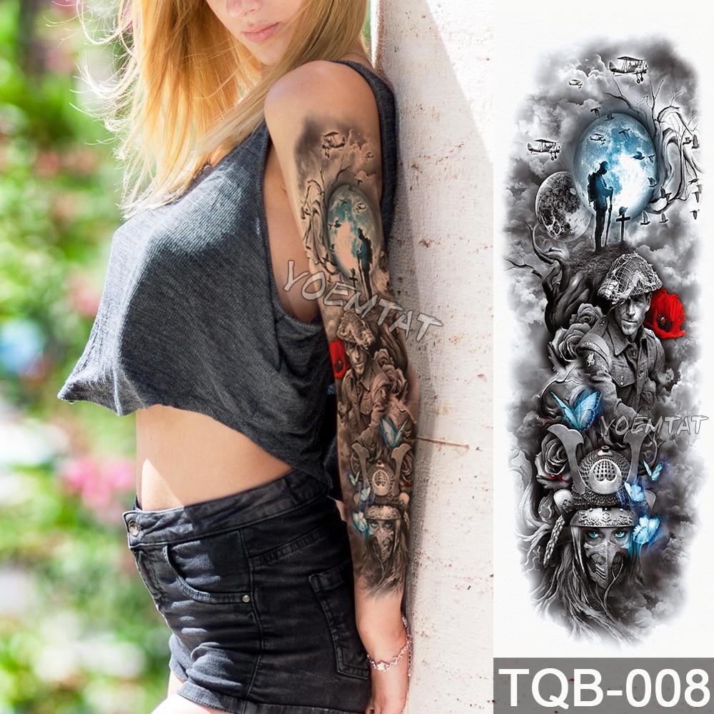 Waterdichte tijdelijke tattoo Sticker Schedel Angel rose lotus - Tatoeage en lichaamskunst - Foto 6