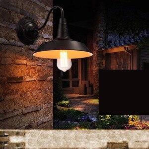 Image 5 - Vintage Lampada Da Parete Ha Condotto La Luce E27 Edison luce Loft Retrò Vernice Ferro Americano Vecchio Stile Semplicità Nero Copertura del Pot con lampada Ombra