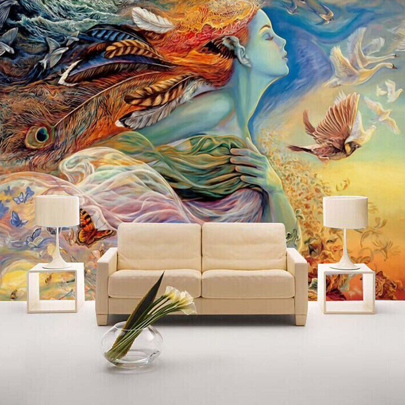 Custom Mural Wallpaper 3D Personality Abstract Figure Graffiti Wall Painting Cinema Bar KTV Bedroom TV Backdrop Photo Wallpaper