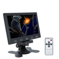 Portable 7 Inch Display HD Computer TV AV Display CCTV Security Monitor Surveillance Screen 1024x600 EU Plug