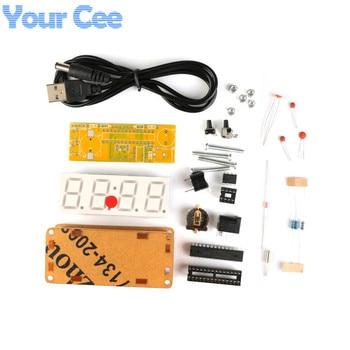 9badd459ea6c Kit de bricolaje LED reloj electrónico módulo microcontrolador de 4 Bits de  0