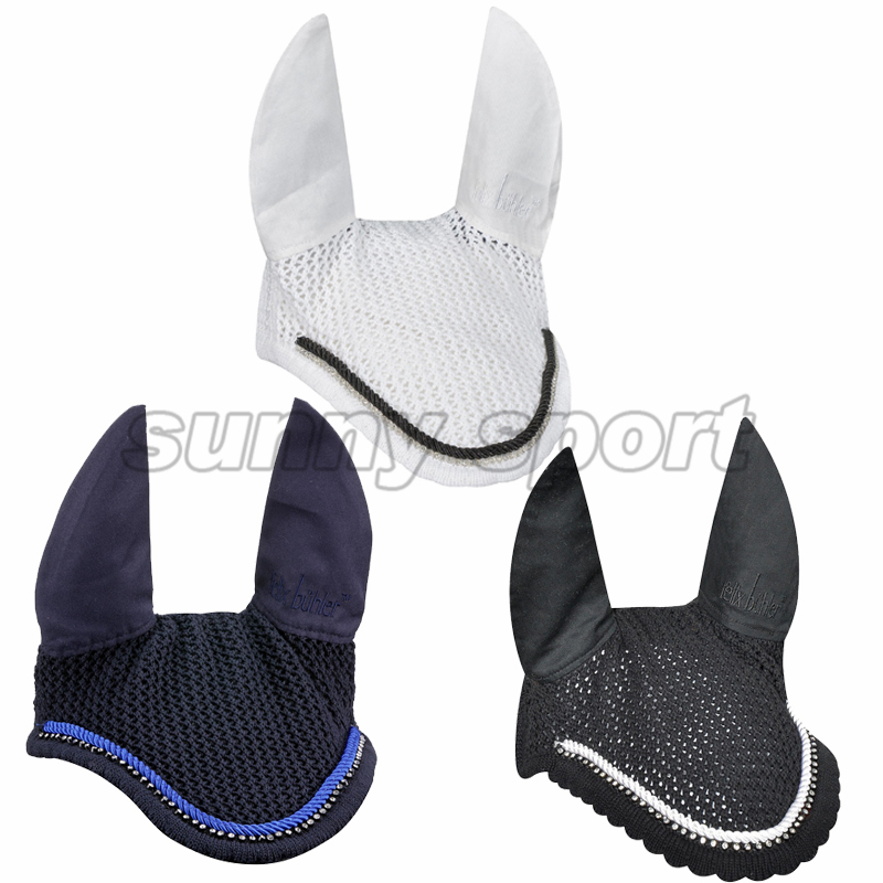 High Quality Hand Crochet Mask With Rhinestone Decoration Dressage Equestrian Equipment Headgear For Horses