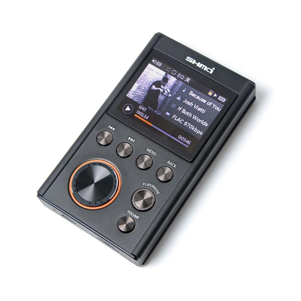 SHMCI C5 HIFI MP3 DSD Professionnel MP3 HIFI Lecteur de Musique Support amplificateur de casque DAC wm8965 DSD256 Avec OLED Comme ZiShan DSD