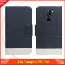 5 цветов горячей! Doopro P5 Pro Чехол Ультра-тонкий флип кожа Эксклюзив телефона книга форматом в пол-листа слот для карт