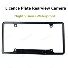 hot sell Waterproof US Car Licence Plate Frame Camera 135 degree angle with 8 LED Lights Night Vision