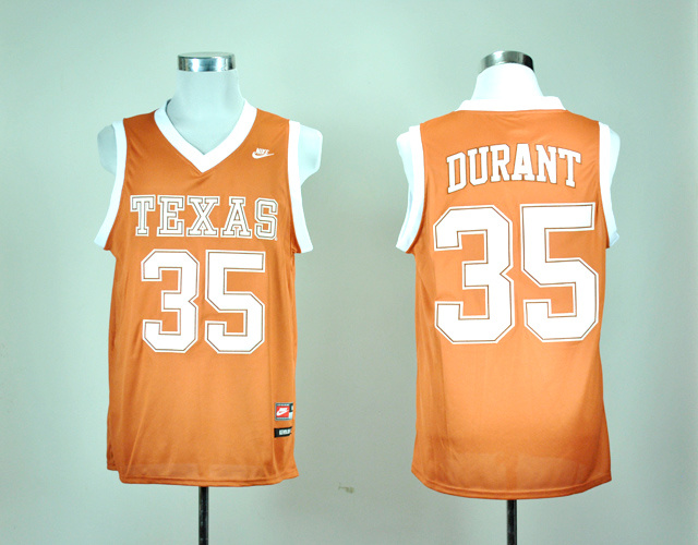 detailed look 5cbf8 9b917 texas longhorns 35 kevin durant burnt orange jersey