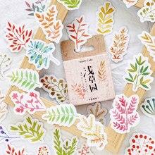 46 Pcs/box vintage leaf grass paper sticker DIY decoration stickers diary photo album scrapbooking planner label
