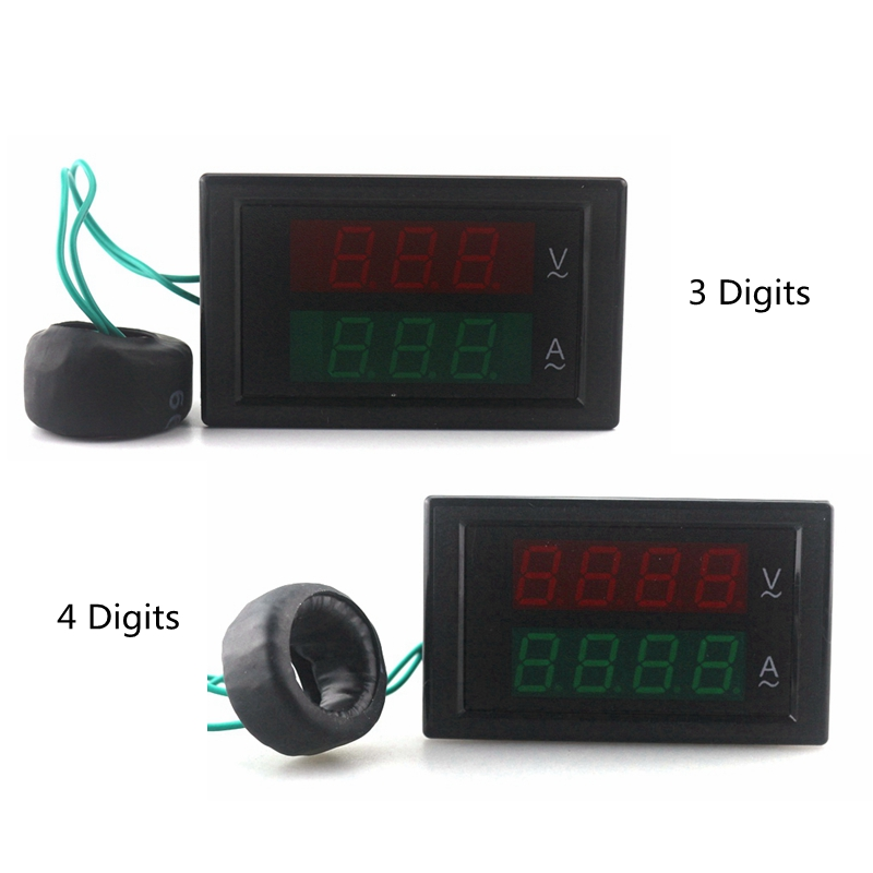 Voltmetro AC digitale Amperometro Ampermetro AC 80-300V 0-100A Led - Strumenti di misura - Fotografia 2