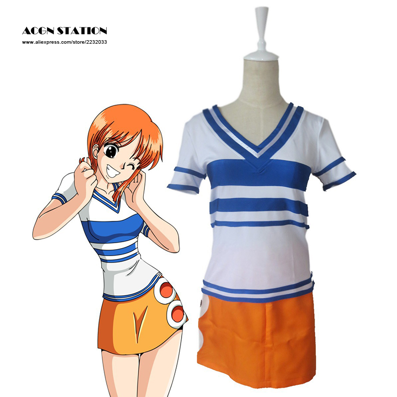 2018 Free Shipping One piece Nami Two Years ago Adult Kid Cosplay Costume Tailor-made/Customize for adults and kids