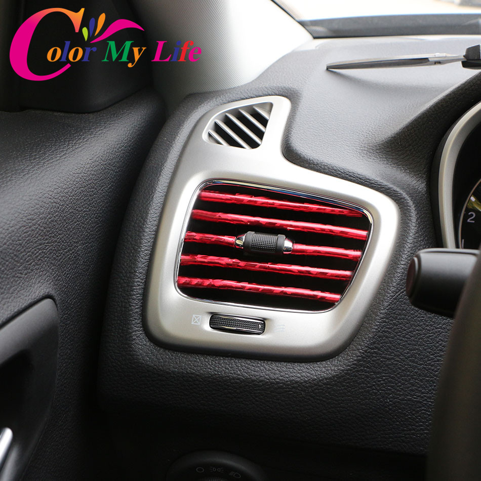 1M Car Air Conditioner Outlet Vent Grille Decoration Strip Trim for Skoda Superb Octavia RS Combi Scout Fabia Rapid Roomster