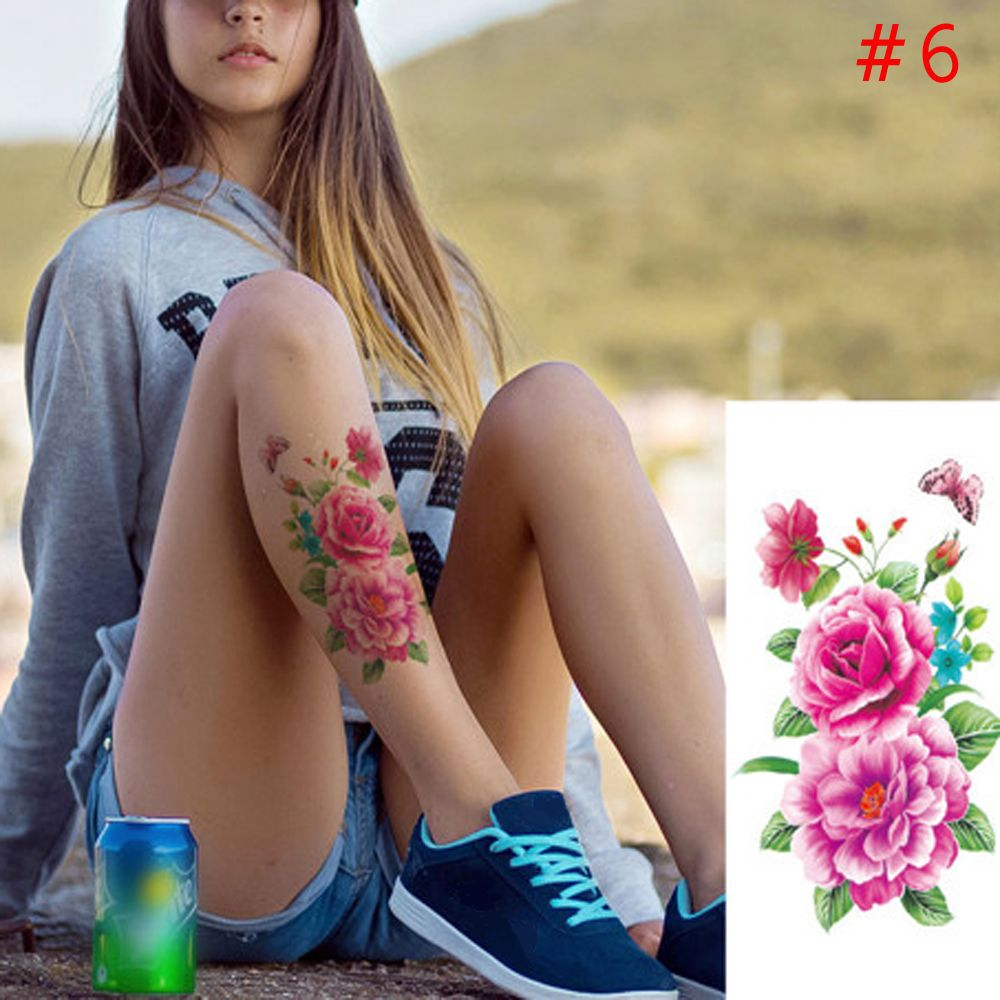 128f6a68e 1PC New Fashion Removable Women Lady 3D Flowers Waterproof Temporary Tattoo  Stickers Beauty Body Art Easy Wear And Easy Clean-in Temporary Tattoos from  ...