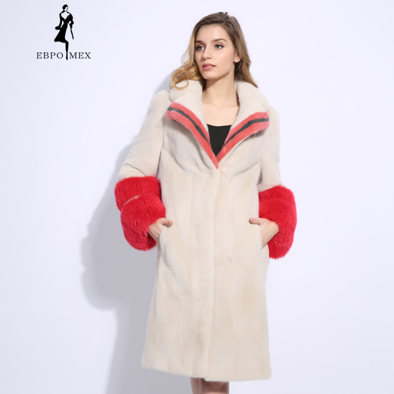 New Trend Mink Fur Women Coat 18418
