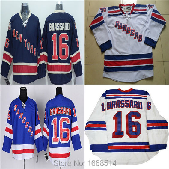 ... release date new york rangers hockey jerseys cheap 16 derick brassard jersey  white navy blue ny 38da5eb74
