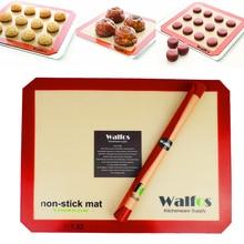 WALFOS marca revestimiento Bandeja de Hornear de Silicona Antiadherente Estera de Hornear Antiadherente Liner Baking Cookies pastelería mat