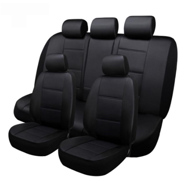 (Frente + Rea) 5 assentos de couro Personalizado tampa de assento do carro Para BMW e30 e34 e36 e39 e46 e60 e90 f10 f30 x3 x5 x6 carro acessórios auto