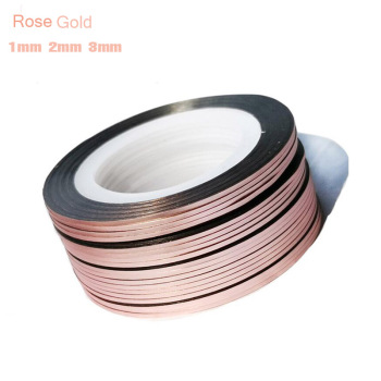 10pcs 1mm 2mm 3mm Rose Gold Silver Gold 3D Striping Tape Lines Nail Art Sticker Metallic Adhesive Striping Nail Tape Sticker C53 1pcs nail decal and sticker gold silver metal curve strip lines adhesive striping tape multi size 3d stickers nail art diy decor