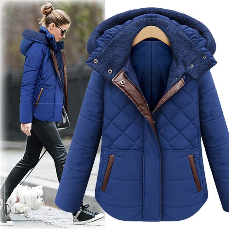 Women's Winter Clothing Thicker Plus Velvet Cotton Padded Coat Women Short Down Jacket Female Winter Coat Warm Short Parka TT182