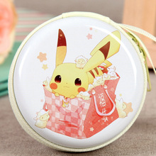 Cute Lovely Pokemon Pikachu Circular Coin Purse