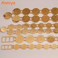 Anniyo (4 styles & Size) Belly Chains for Women Gold Color Turkish Coins Belt Jewelry Middle East Oman Iraq Kurdish Coin #010701