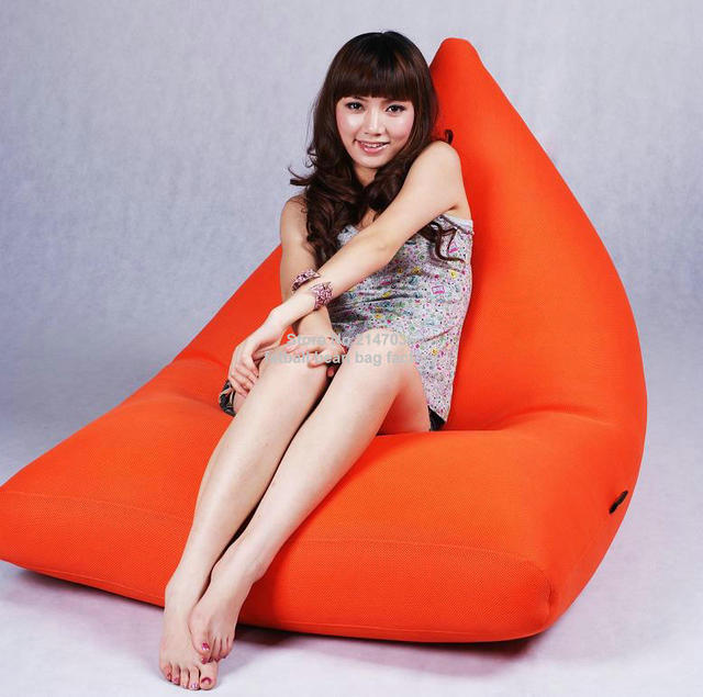 Orange Bean Bag Luar Sofa Furniture Kursi Leher Bantal Besar Benificail Untuk Anda
