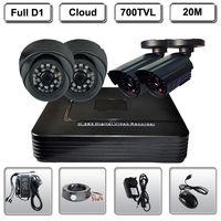 Home 4CH CCTV Surveillance DVR 4 Night Vision Security 700TVL Camera System Kit