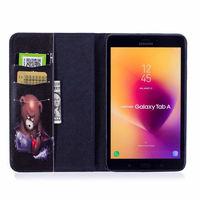 leather flip Fashion Animal Owl Bear Flip PU Leather Case For Samsung Galaxy Tab A 8.0 T380 T385 2017 8.0 inch Smart Cover Cases Funda Shell (5)