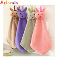 Baby Towel Baby Nursery Hand Towel Toddler Soft Plush Fabric Cartoon Animal Wipe Hanging Bathing Towel for Children 2016 New