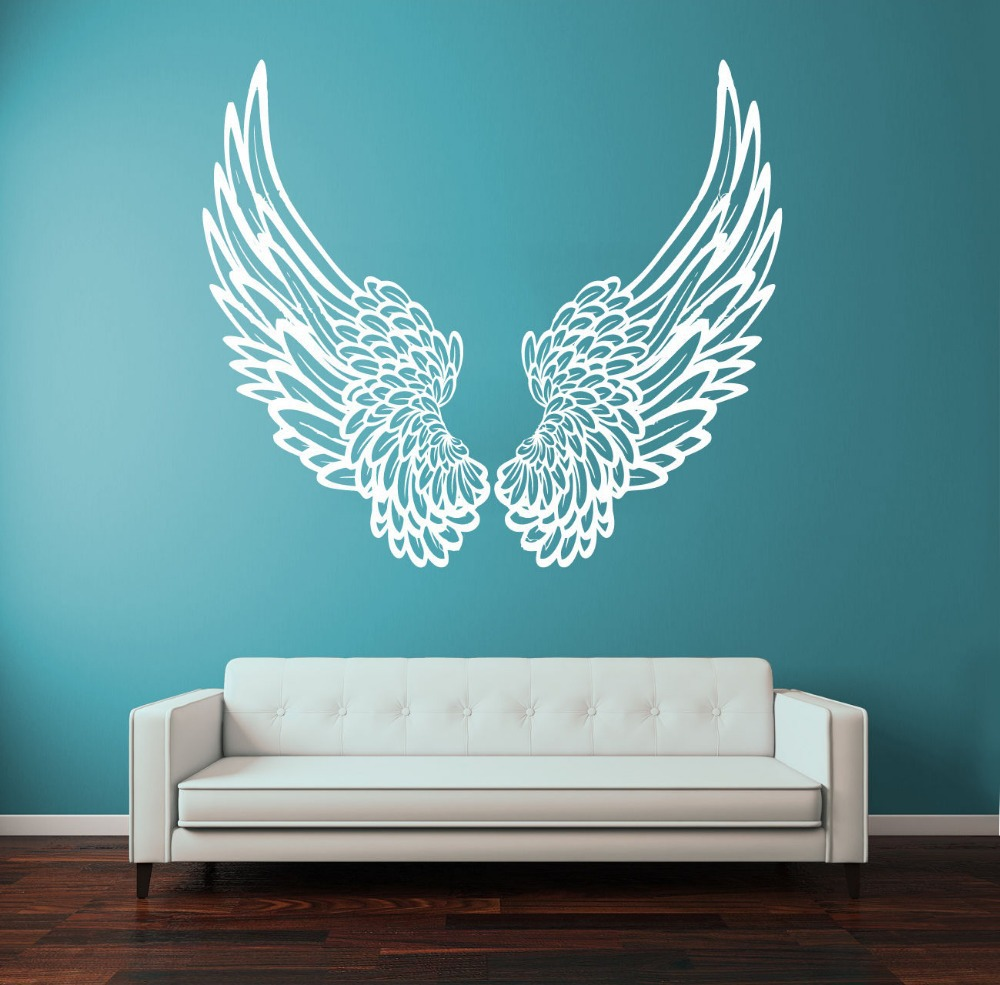 popular kids god buy cheap kids god lots from china kids god free shiping diy vinyl wall sticker wall decal big wings angel god guardian bird kids children