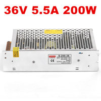 15 шт. 200 Вт 36 В источника питания 36 В светодио дный Драйвер 36 В 5.5A источника питания 36 В 200 Вт S 200 36 DC36V